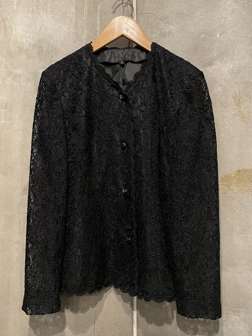 (TOYO) design lace l/s shirt