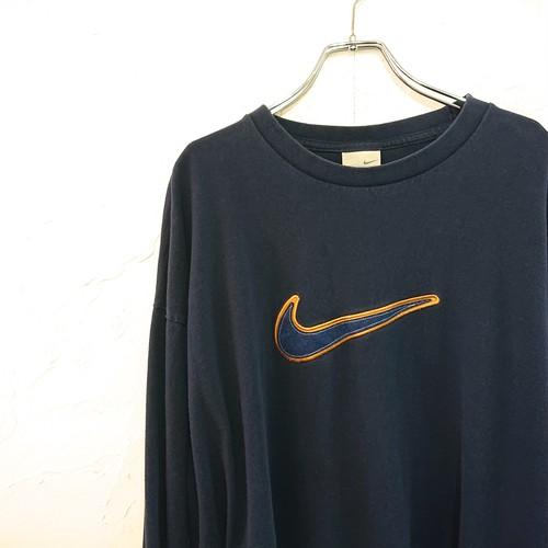 【USED】Nike ロングスリーブ Tシャツ ネイビー