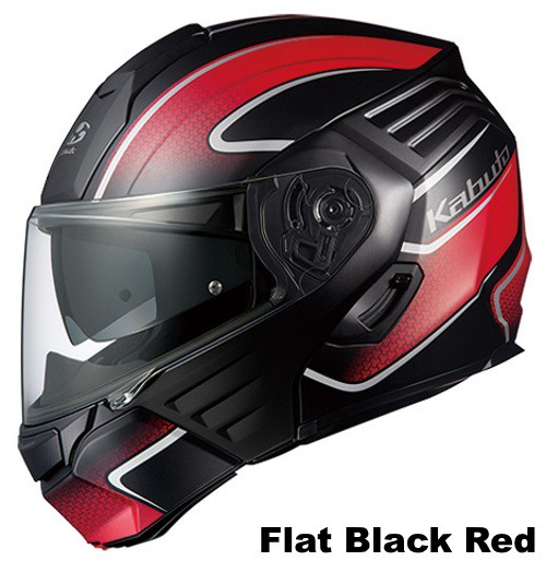 OGK KAZAMI XCEVA Flat Black Red