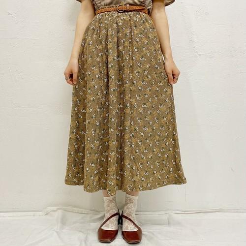 (LOOK) flower print skirt
