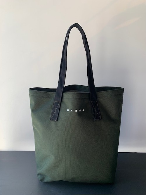 MARNI NYLON CANVAS TOTE BAG