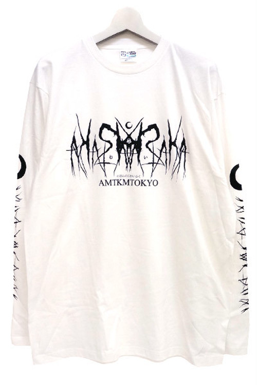 「死文字/Death Logo」 Long T-Shirt White