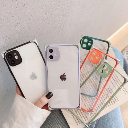 【即日発送】クリア スクエア iPhoneケース 5カラー i9026