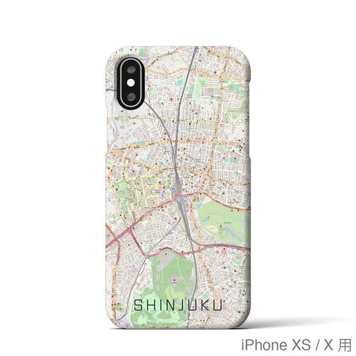 【新宿】地図柄iPhoneケース(バックカバータイプ・ナチュラル)