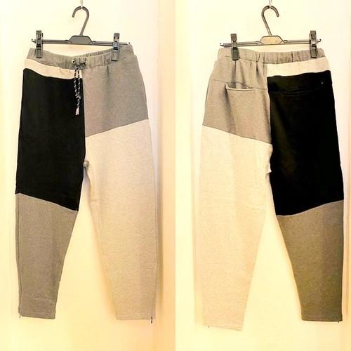 【再入荷!】Patchwork Design Sweat Pants Charcoal