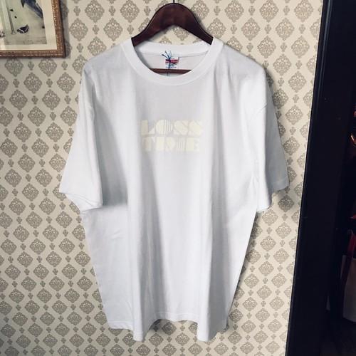 「LOSS TIME」 T-shirts (white×white)