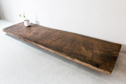 手鋸跡が美しい欅古材板