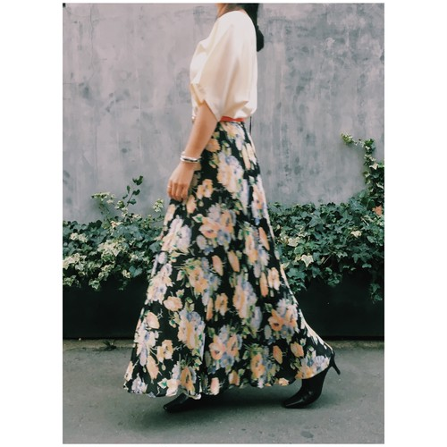 reversible flower print skirt