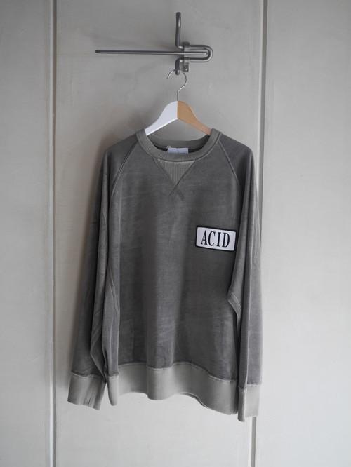 BLACK WEIRDOS / Velor Crewneck Sweatshirt