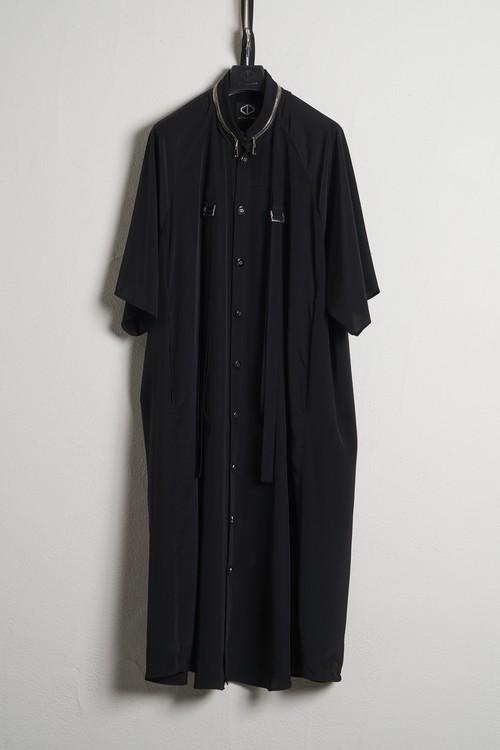 Buckle Long Half Shirts / Black [21SS COLLECTION] ※受注終了