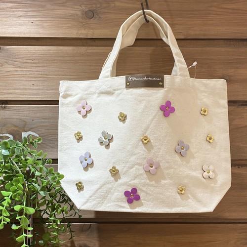 【オンラインショップ限定価格¥3,510→¥2,530】No.664ランチトートバッグS(花色ピンクカラー)