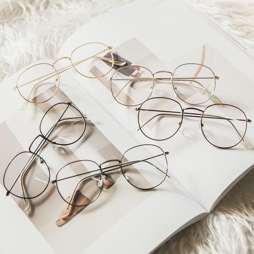【小物】無地韓国文芸シンプルファッションメガネ
