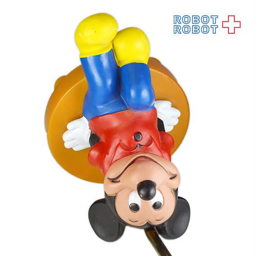 ミッキーマウス デスクランプ 座りソフビ フィギュア