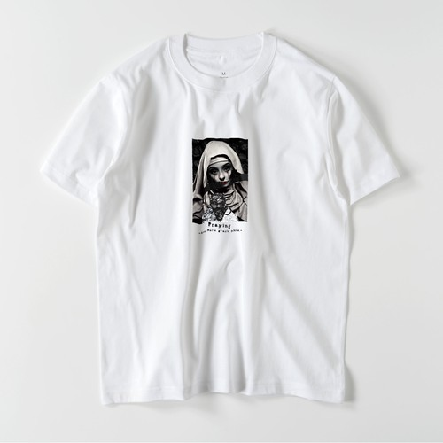 "5.6oz Art Print Cotton S/S TEE ""Box Maria"""