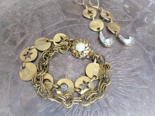 vintage bracelet star and moon <BL-STMN1>