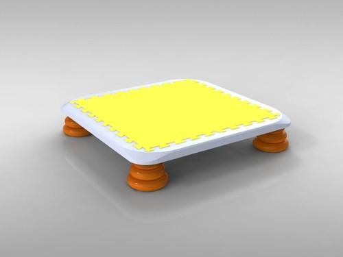 バンバンボード(黄色)一般用スプリング 安全 で 音が響きにくい 人気 の 室内・家庭用 の おすすめトランポリン Yellow <モリイチイベント開催記念セール>