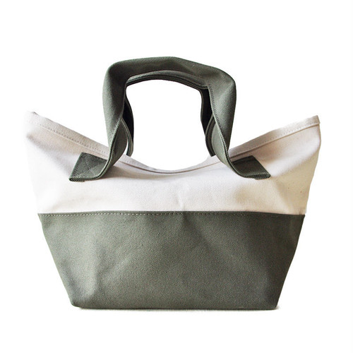CHUBBY TOTE BAG (キナリ×オリーブ)