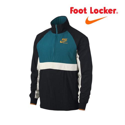 NIKE/Foot Locker/Half-Zip Woven Archive Jacket /ナイキ フットロッカー別注/ロゴプリント プルオーバー ジャケット/BLACK【21743480-black】