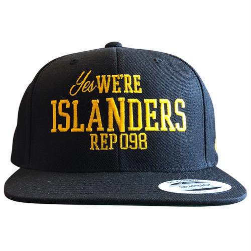 《限定カラー》We Are ISLANDERS SNAPBACK CAP(BLACK×YELLOW) / LIFEdsgn