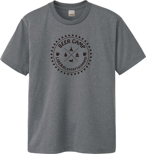 Liberal 2017 メッシュTシャツ BEER CAMP HeatherGray