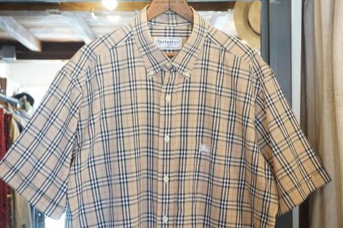 90's BURBERRYS nova-check cotton s/s Shirt