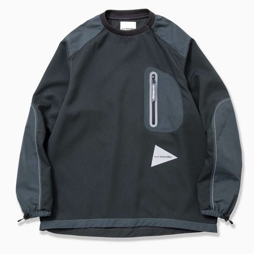andwander   vent pullover(charcoal)