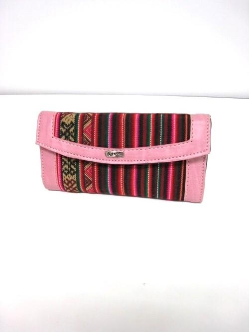 PERU GOODS / ペルー雑貨ピンク色の財布