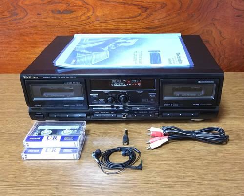ダブル録音テープデッキ Technics RS-TR575 録音良好・完動品・動作保証