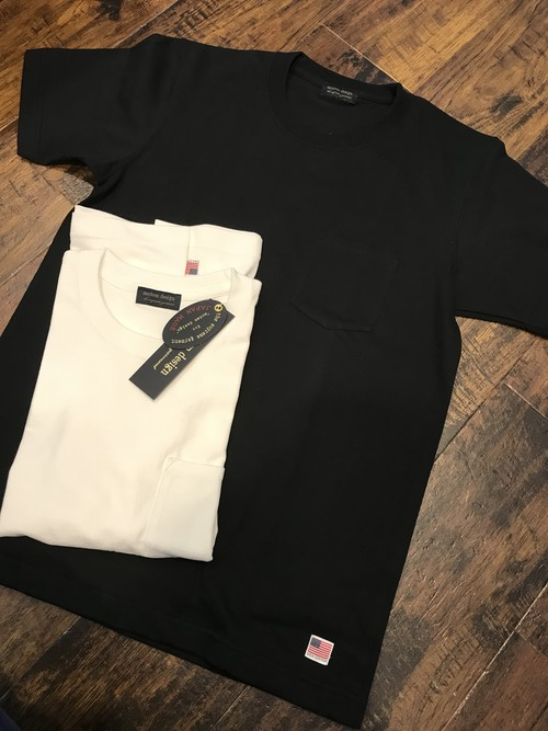 modem design USA cotton Pocket Tee