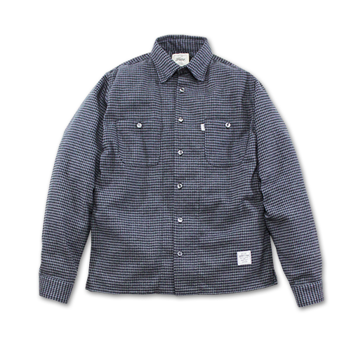 SEVENTY FOUR / HOUND TOOTH CHECKED SHIRT L/S