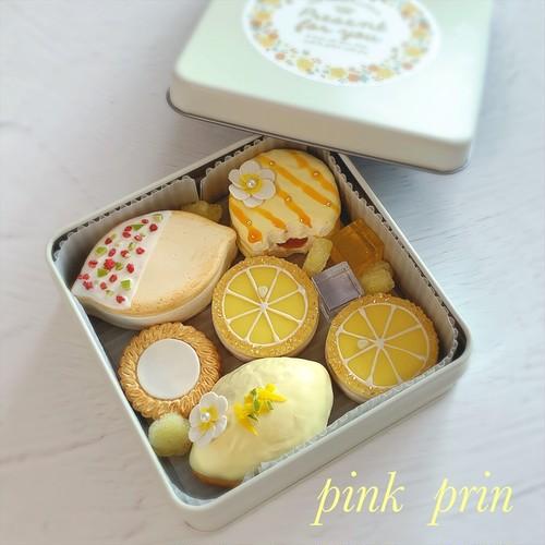 pink prinの『クッキー缶シリーズ』レモンスイーツ缶(レッスン料)