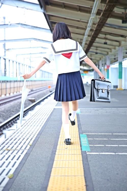 ポストカード『埼〇線の彼女』