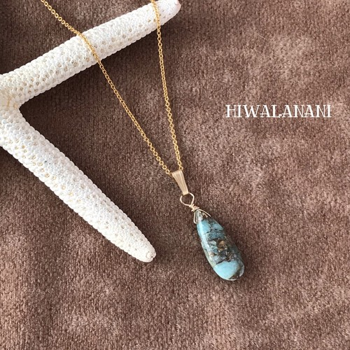 14kgf☆Copper amazonite necklace  コッパーアマゾナイト ネックレス