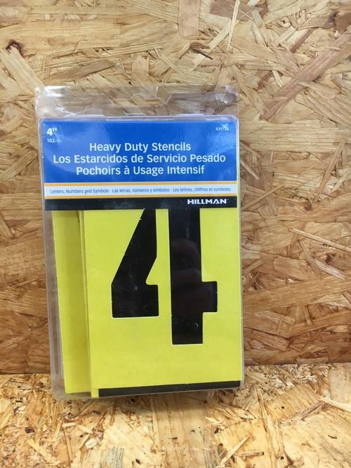 ステンシル DIY 加工 アルファベット ナンバー 4インチ 新品