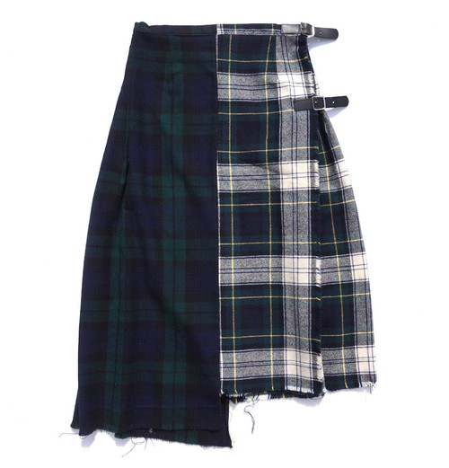 "[Magfacture ""UNION ROLL SKIRT""] BLACK WATCH/TARTAN"