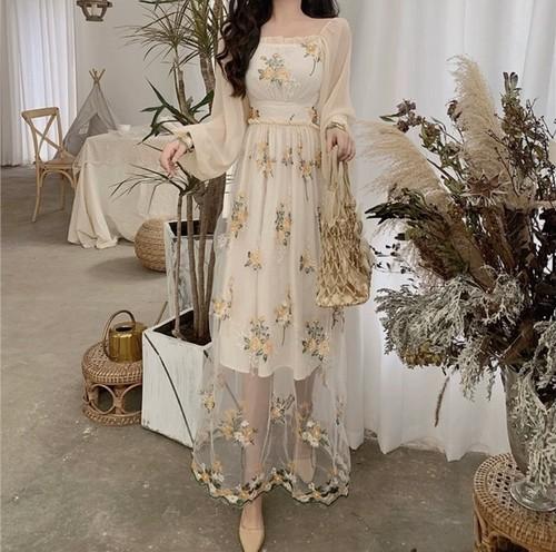 dried flower dress