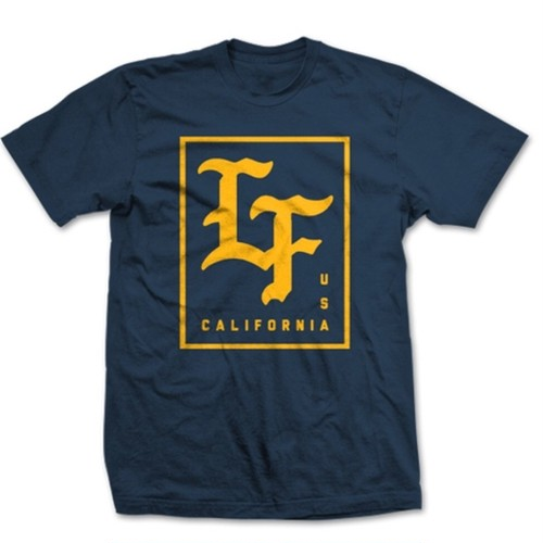 LIVE FIT Stamped Tee- Midnight Navy