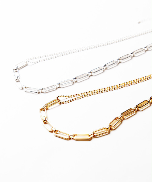Ayler アイラー / mix chain necklace / Ay-018