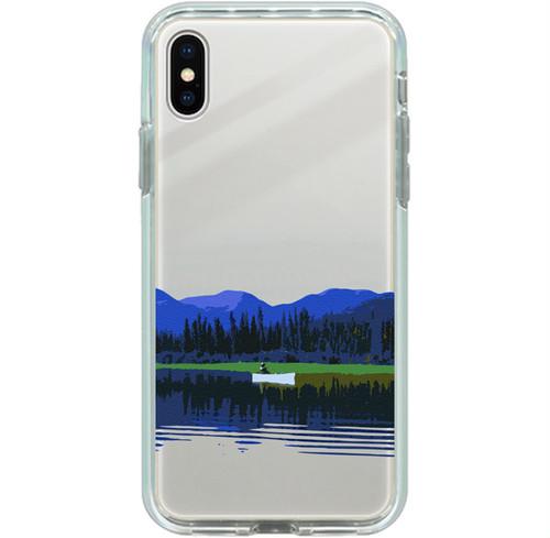 iPhone 8 Plus, 7 Plus用ミラーケース カナダ・ユーコン川 シルバー