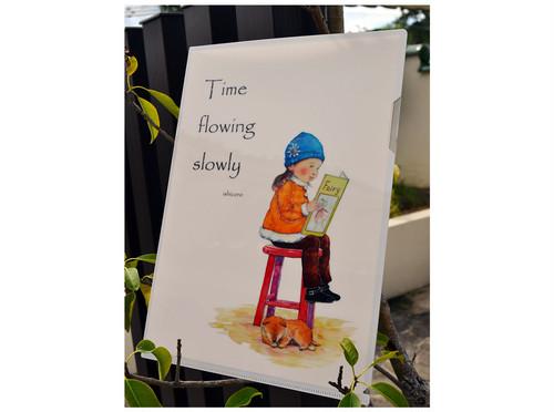 「読書の時間」クリアファイル
