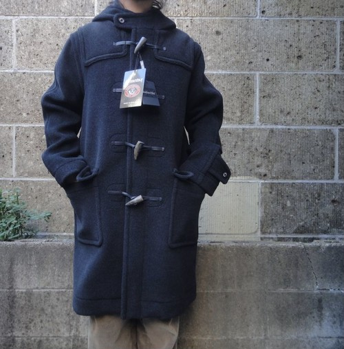 INVERTERE (インバーティア) NEWTON ABBOT LONG DUFFLE COAT チャコール