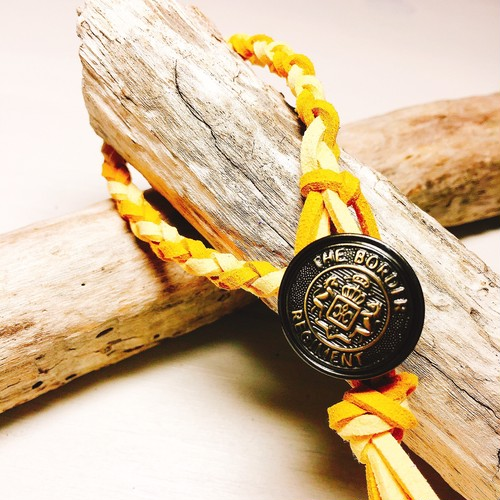 Concho bracelet (Yellow)