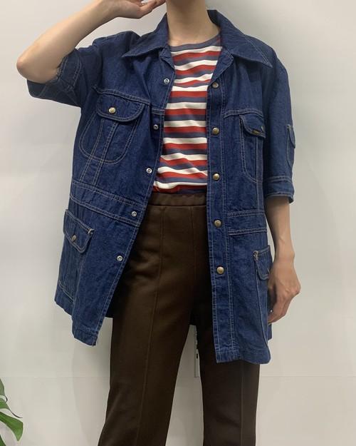 1970s MADE IN USA Lee short sleeve denim shirt【L-R】