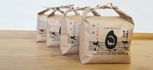 土遊野米4品種 食べ比べセット 各種玄米2kg(白米なら1.8㎏)【コシヒカリ・イセヒカリ・てんたかく・ミルキークイーン】
