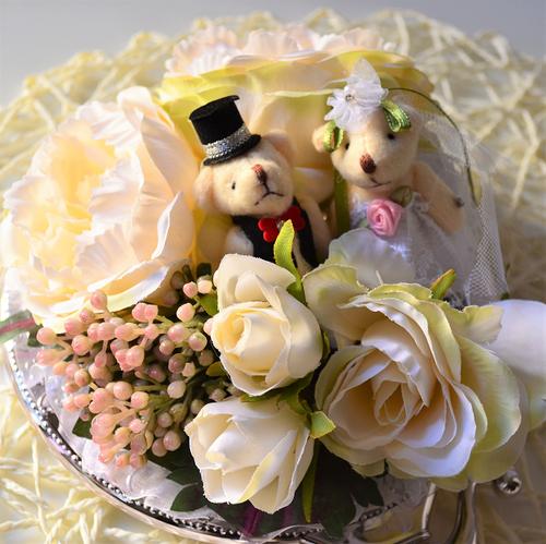 【結婚のお祝いにピッタリ】ブライダルデコミラー