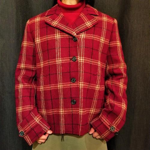 LAUREN  Check wool jacket [1516]