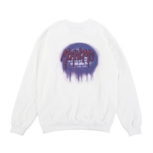 MOANDMO  Logo Airbrushed Sweat Shirts  / Purple