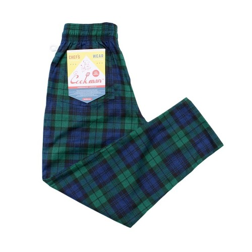 COOKMAN CHEF PANTS「BLACK WATCH CHECK」/ NAVY