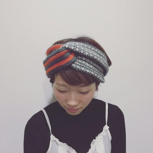 【SALE】バライロノボウシ ボーダーニットヘアバンド