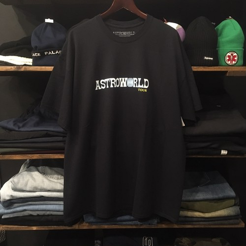 【TRAVIS SCOTT】-トラビススコット-ASTROWORLD TOUR MERCH TEE BLACK